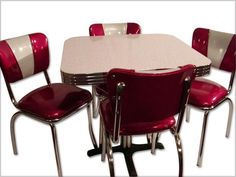 Buy VINTAGE 50S 60S KITCHEN TABLE AND CHAIRS at Furniture Trader