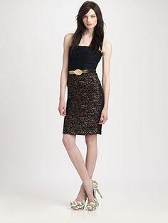 Alice + Olivia. #black #dress