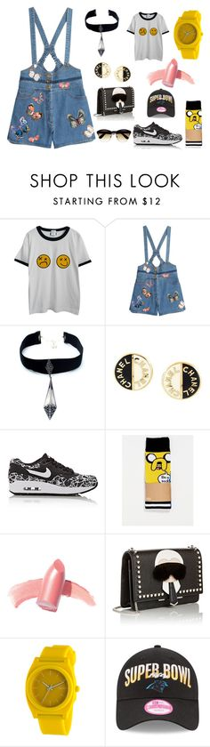 """Typical Asian Girl."" by harningdipta on Polyvore featuring Chicnova Fashion, Valentino, Child Of Wild, Chanel, NIKE, ASOS, Elizabeth Arden, Fendi, Nixon and valentino"