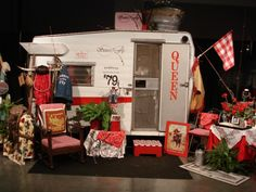from Sisters on the Fly, a group that gets together for travel trailer adventures-- love this!! #camping #trailer #retro #vintage