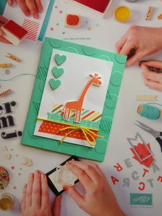 Kathryn's Stampin' World - Stampin' Up! Zoo Babies, Children's Card, Baby Card