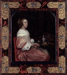 1665 Eglon Hendrick Van Der Neer - Young Lady at her Breakfast