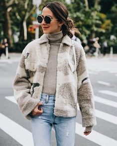 Teddy coat trend. See more on thecoolsociety.report #fashion
