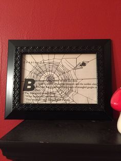 Gifts for weirdos/gifts for Spider lovers/spider decor/spiderweb art/gifts for book lovers by TheNiftyNookCo on Etsy