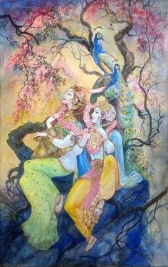 Lord Krishna Images, Radha Krishna Pictures, Radha Krishna Photo, Krishna Art, Hare Krishna, Ganesha Art, Lord Shiva Painting, Krishna Painting, Radhe Krishna Wallpapers