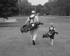 Father/Son Golf Day. I seriously cannot wait to take this picture someday!