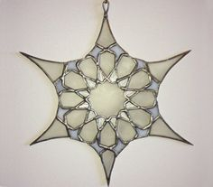 "Stained Glass Suncatcher -""Exotic Snowflake"" by Smash Glassworks [SOLD]"