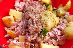salata-de-cartofi-cu-sos-cald-de-mustar-cu-ceapa-3 Cobb Salad, Cooking, Food, Kitchen, Essen, Meals, Yemek, Brewing, Cuisine