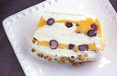 Lemony Frozen-Yogurt Terrine with Blueberries and Mango