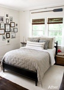 like the cottage feel of this room.  probably not the best choice for the boys room (lots of white...), but like the neutral tones.