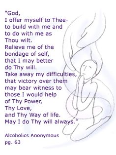 Acceptance prayer aa 12 step recovery gifts projects to try 3rd step prayer for any 12 step program fandeluxe Image collections