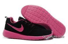 0842a7a11f623 Womens Nike Roshe Run Black Pink Shoes New Zealand TopDeals