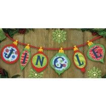 The Jingle Banner by Dimensions is the perfect decoration for your holiday festivities. This felt appliqué design is so quick and easy to assemble—complete in just an evening or weekend! Size: x felt applique kit contains: Christmas Stocking Kits, Merry Christmas, Christmas Bunting, Holiday Banner, Felt Christmas Decorations, Felt Christmas Ornaments, Christmas Sewing, Kids Christmas, Christmas Stockings
