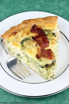 Chicken Broccoli Bacon Quiche