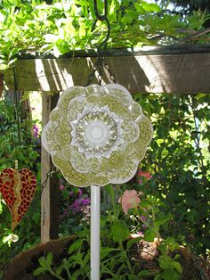 plate flower garden art - pic only