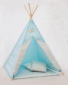 Tipi Diamant Bleu /TEEPEE SET _ Teepee tipi par KidsBOCOLORO