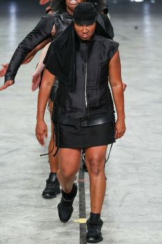 3 Looks: my #PFW picks from #RickOwens. Kudos to Owens for upending the fashion system. By employing stepping dancers and clothes made to move, he rejected conventional beauty, opting for creating our own beauty.
