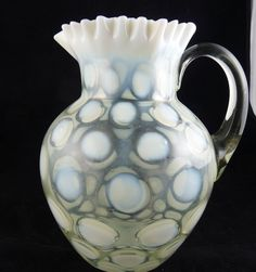 Vintage Fenton French Opalescent Coin Pitcher