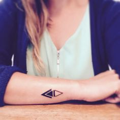 triangle wrist tattoo