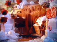 Will Cotton, Root Beer Falls, 2002, oil on linen, 75 x 100 inches. Courtesy of the artist and Mary Boone Gallery