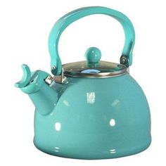 Turquoise Whistling Tea Kettle.