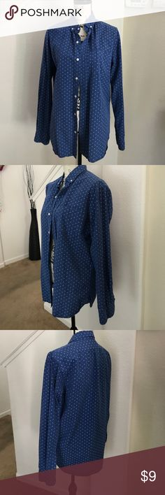 Old navy mens dress shirt size M Mens dress shirt blue Old Navy Shirts Dress Shirts