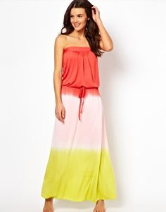 I need this.....South Beach Ombre Jersey Maxi Dress With Drawstring