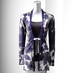 love the simply vera wang line at kohls  -  Simply Vera Vera Wang Floral Cardigan