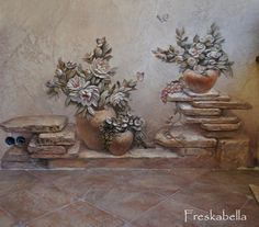 Plaster Crafts, Plaster Art, Exterior Wall Design, Carving Board, Gourd Art, Wall Sculptures, Hobbies And Crafts, Artist At Work, Oeuvre D'art