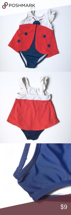 Ladybug swimsuit My favorite swimsuit ever. Cute ladybug. Great condition with exception of some piling between the legs. Shown in photo. Size 2T. Smoke free home. Crazy 8 Swim One Piece