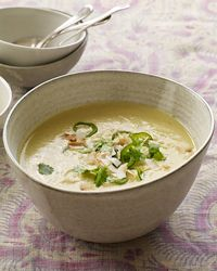 Curried Cauliflower Soup with Coconut and Chiles Recipe on Food & Wine