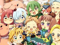 """Você conhece """"nanatsu no taizai""""?   Quizur Anime Chibi, Anime Kawaii, Manga Anime, Anime Art, Seven Deadly Sins Anime, 7 Deadly Sins, Otaku Anime, Anime Love, All Anime"""