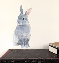 Bunny Wall Decal, Woodland Fabric Wall Sticker (Not Vinyl) - Mini