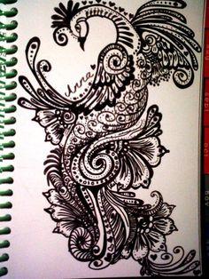 Peacock # drawing