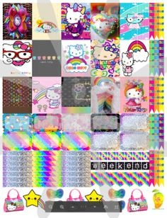 Hello Kitty™ Rainbow planner stickers that are made to print out onto one 8 1/2X11 sticker paper, cut to size for your personal Mambi Happy Planner™/Erin Condren™ & Plum™ sized and type planners. Add to your cart now and just check out. You will not be charged for this download!  In printable HQ PDF format (image poor quality for visual only). Water marks removed during print. Created by Staff Artist Angel Koch.  See terms and Use.    Mambi Happy Planner™/Erin Condren™,  & Plum™, Hel...