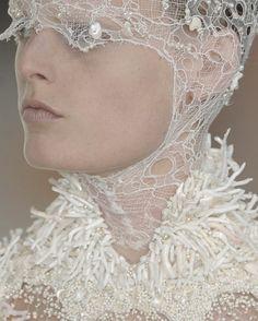 Hanne Gaby Odiele at Alexander McQueen Spring/Summer 2012