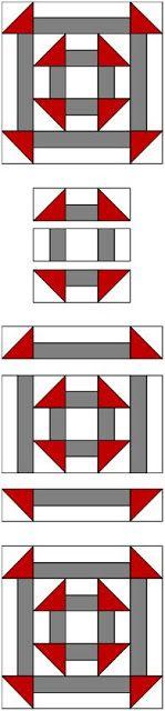 Free Double Churn Dash Quilt Pattern