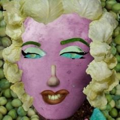 Marilyn made with food !!