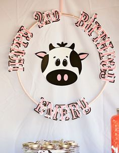 MooMoos & TuTus Themed Birthday Party via Kara's Party Ideas KarasPartyIdeas.com Cake, party supplies, banners, cupcakes, tutorials, giveaways and more! #cowparty #tutuparty #moomoosandtutus #cowbirthdayparty #girlpartyideas #cookiesandmilk #milkandcookies #karaspartyideas #partyplanning #partydesign (9)