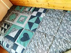 LubkaPatchwork / Patchwork prehoz na posteľ Quilts, Blanket, Bed, Home, Scrappy Quilts, Stream Bed, Quilt Sets, Ad Home, Blankets