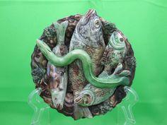 Antique Palissy Majolica Jose Cunha Fish Eel Plaque | eBay 1025.00