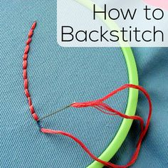 A video tutorial for the Back Stitch, the most commonly used outline stitch for most embroidery projects. Easy, versatile and perfect for your embroidery!