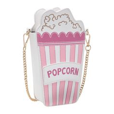 SheIn(sheinside) Popcorn Shaped Chain Shoulder Bag ($18) ❤ liked on Polyvore featuring bags, handbags, shoulder bags, chain purse, chain strap purse, chain-strap handbags, pink handbags and chain handle handbags