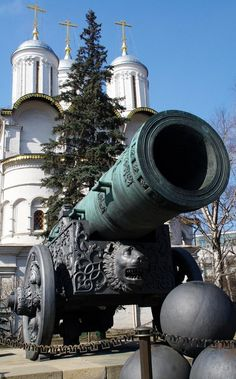 The Tsar Cannon in the Moscow Kremlin. #Russia