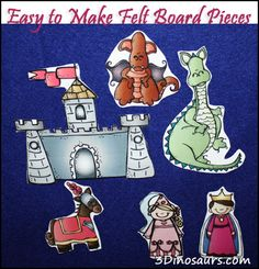 Easy to Make Felt Board Pieces - laminate pictures and add Velcro! Very smart.