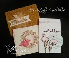 Stampin' Up! New Catalog Card Class by Melissa Davies @rubberfunatics  #rubberfunatics #stampinup