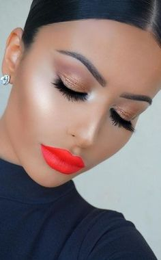 Read information on face & eye makeup Pin Up Makeup, Glam Makeup, Love Makeup, Makeup Inspo, Bridal Makeup, Makeup Inspiration, Makeup Tips, Beauty Makeup, Makeup Looks