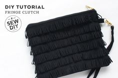 DIY Tutorial – Fringe Clutch by Sew DIY | Project | Sewing / Accessories | Kollabora