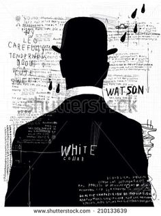 A man in a hat who turned his back on us  - stock vector