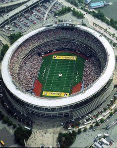 Three Rivers Stadium, former home of Pittsburgh Steelers.